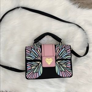 Betsey Johnson butterfly satchel/crossbody